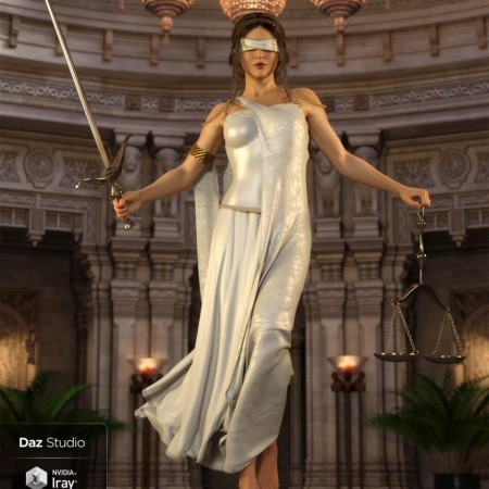 dForce Lady Justice Outfit for Genesis 8 Female(s)