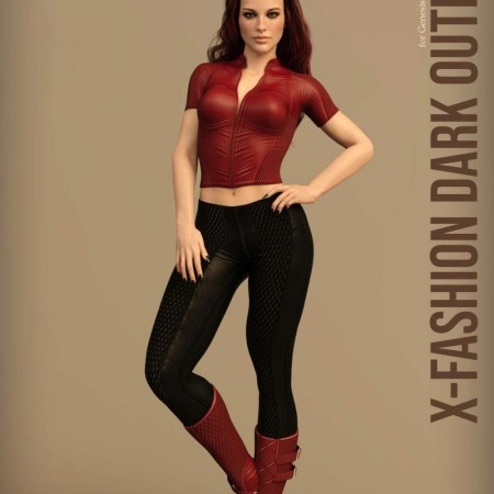 X-Fashion Dark Outfit for Genesis 8 Females