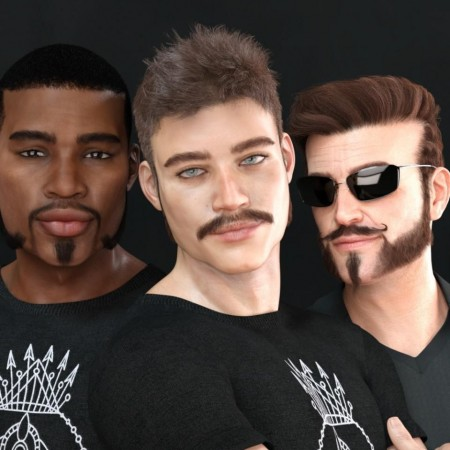 Variety Facial Hair for Genesis 8 Male(s)
