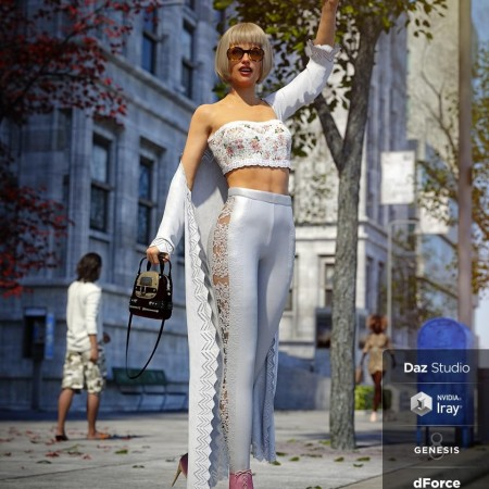 dForce Day Out Outfit for Genesis 8 Female(s)