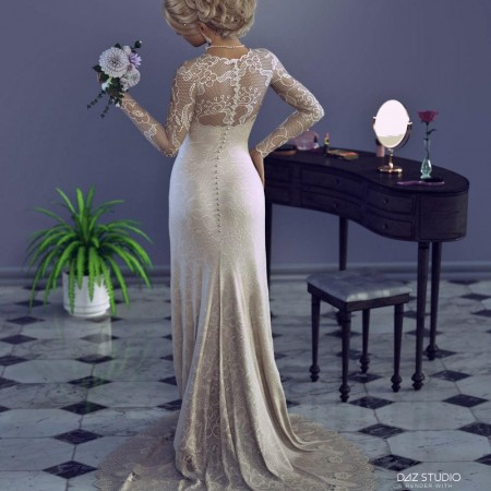 dForce White Wedding Outfit for Genesis 8 Female(s)
