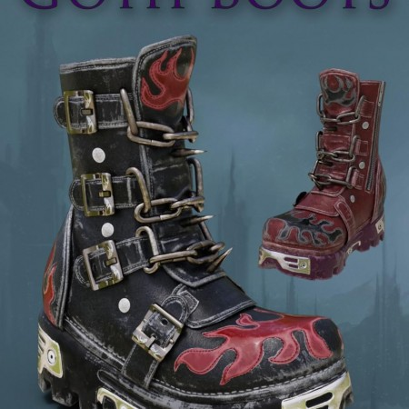 Slide3D Goth Boots for Genesis 3 Female(s)