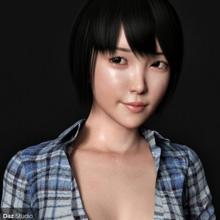 Yuna Character and Hair for Genesis 8 Female