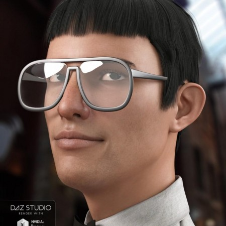 Nerdy Guy Hair for Genesis 3 Male(s)
