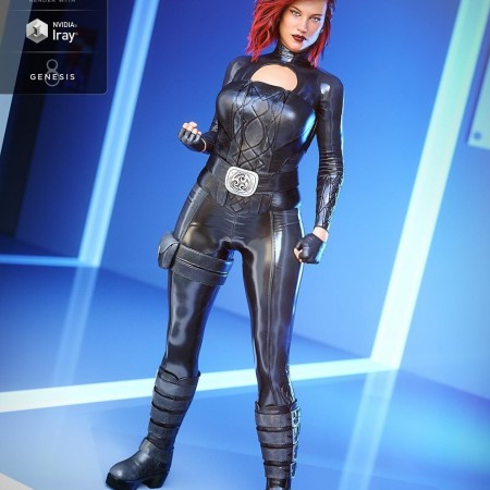 Lethal Rogue Outfit for Genesis 8 Female(s)
