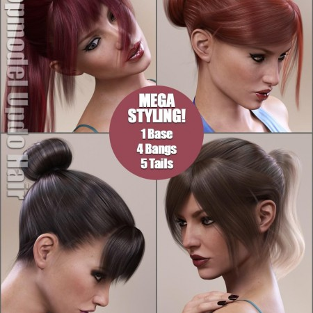 Topmodel Updo Hair and OOT Hairblending 2.0 for G3F