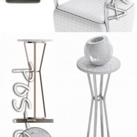Caracole Chair Set 3D model