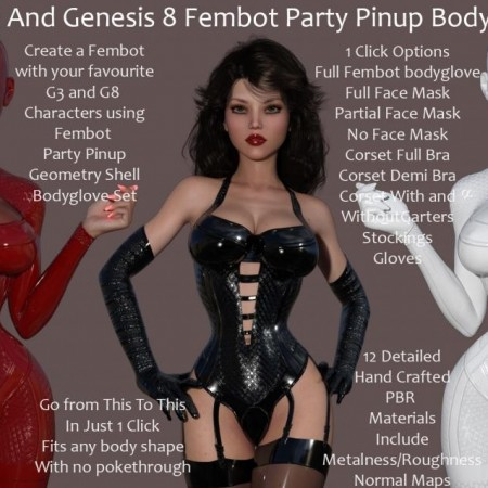 G3-G8 Fembot Party Pinups Bodygloves