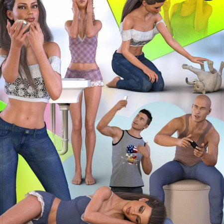Z Everyday Life - Poses and Partials for Genesis 3 and 8