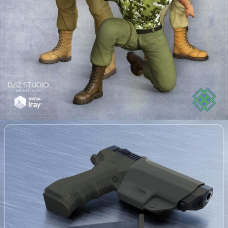 Tactical Gun, Tactical Gun Poses for Genesis 3 Male(s)