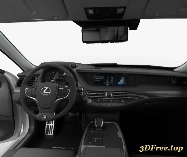 3D Models Lexus LS (XF50) F Sport With HQ Interior 2018