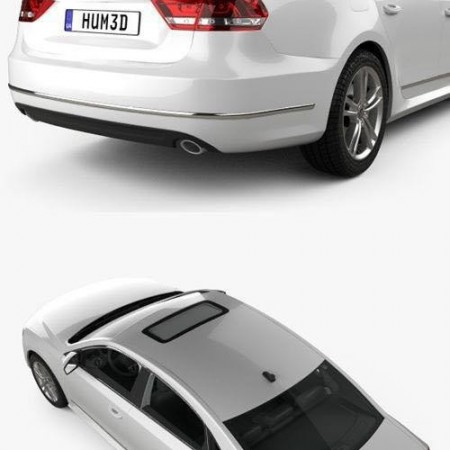 Volkswagen Passat B7 with HQ interior 2011 3D Model