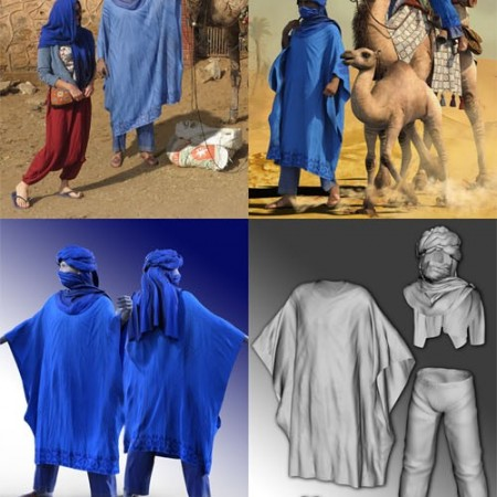 DAZ3D - dForce Moroccan Blue Man Outfit for Genesis 8 Male(s)