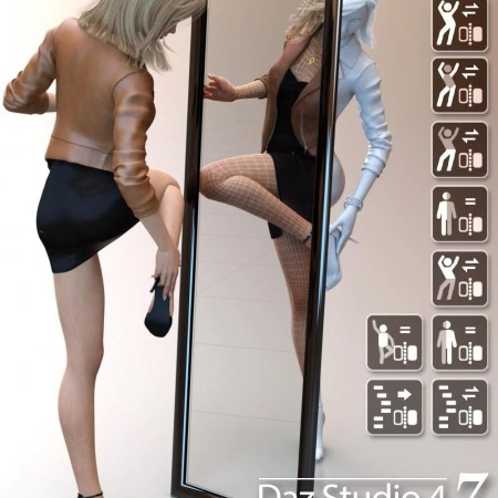 Daz Studio 4 Scene Tools Set 3 - Pose Symmetry