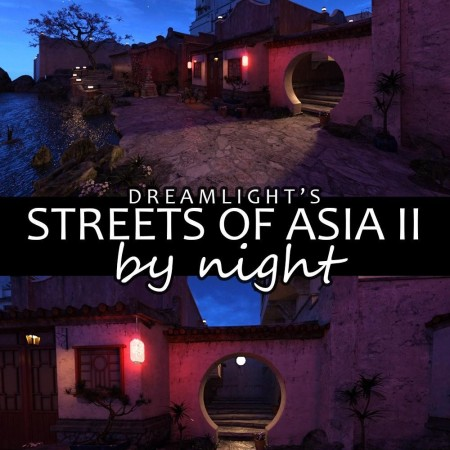 Iray DS Lights - Streets Of Asia 2 By Night