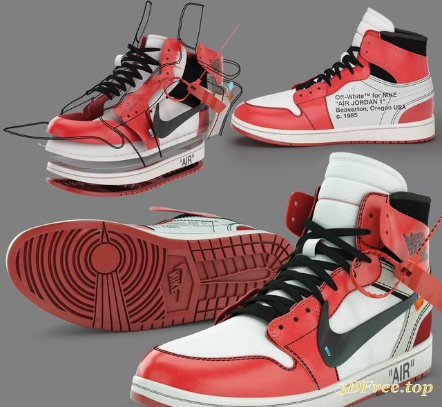 3D Models Air Jordan Sneakers download free