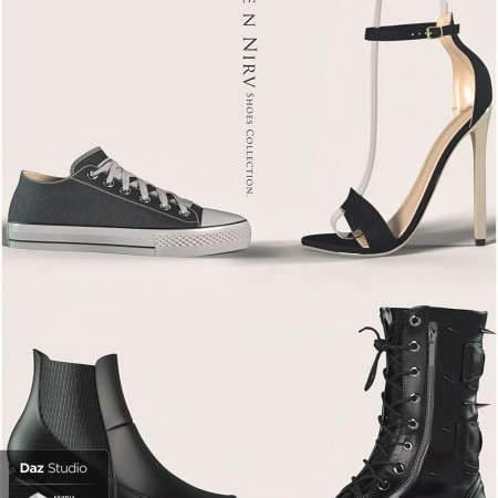 Rare n Nirv Shoes Collection for Genesis 8 Female(s)