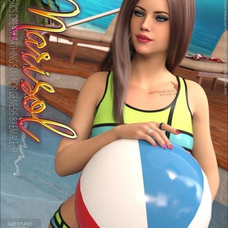 Marisol for Dream Bathing Suit for Genesis 8 Females