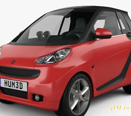 Smart Fortwo 2011 Convertible Hard Top 3D