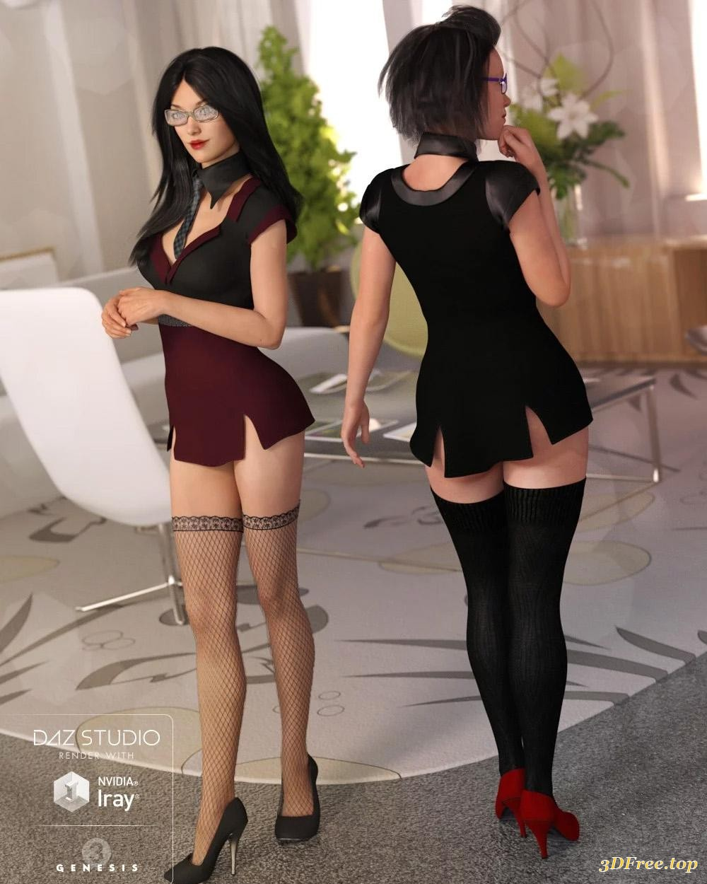 Free Sexy Secretary Pics sexy secretary outfit textures   3d models blog