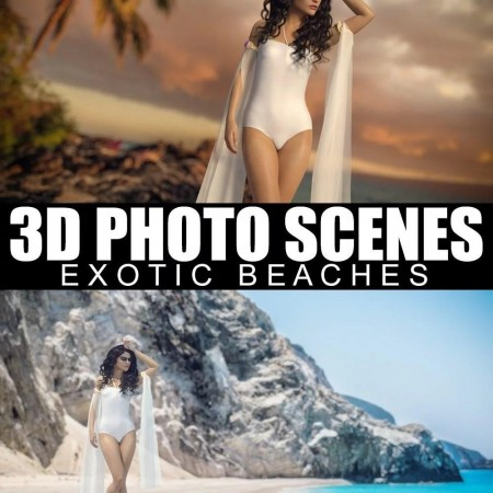 3D Photo Scenes - Exotic Beaches