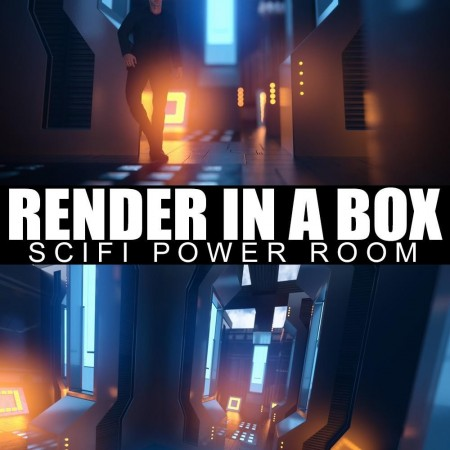 Render In A Box - Scifi Power Room