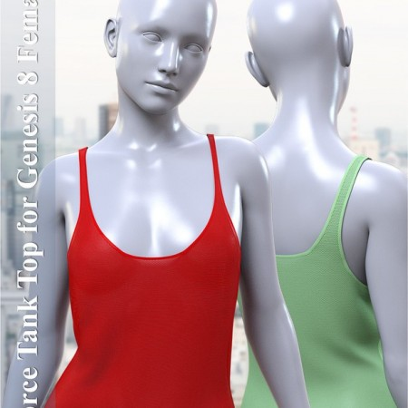 dForce Tank Top for Genesis 8 Female