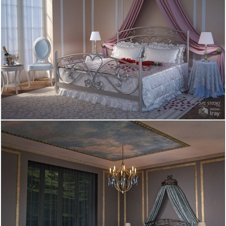 Romantic Bedroom + Textures