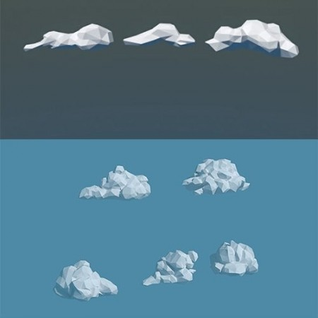Low Poly Cloud Collection