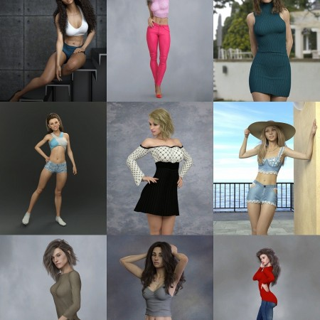 KrashWerks Character Pack for Genesis 8 Female
