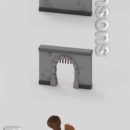 Dungeon Pack - Vol 1 3D model