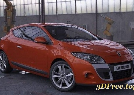 HD Renault Megane Coupe 3D model