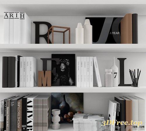 Decorative Set With Books 3d Models Blog