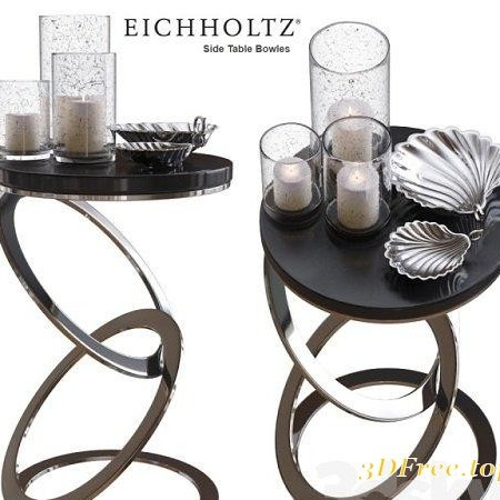 Eichholtz Side Table Bowles with accesories 3d Model