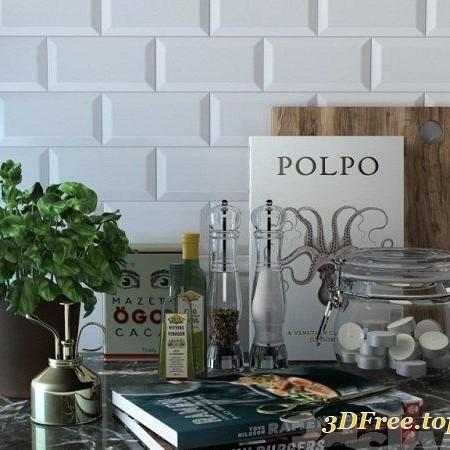 Kitchen Counter Set 3d Model 3d Models Blog