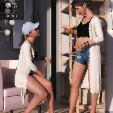 dForce Sunny Days Outfit for Genesis 8 Female(s)