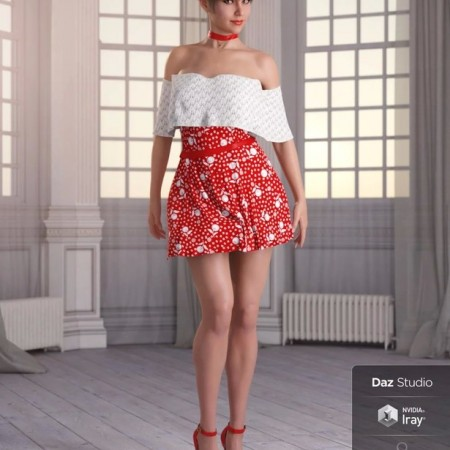 dForce Candy Kisses Outfit for Genesis 8 Female(s)