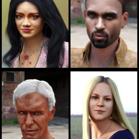 Face Transfer Shapes for Genesis 8
