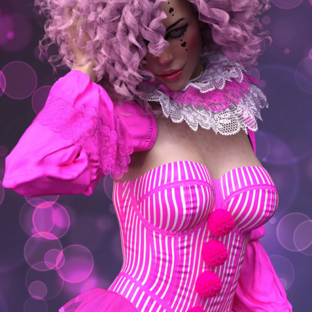 X-Fashion Clown Costume for Genesis 8 Female(s)