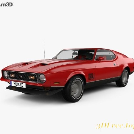 Ford Mustang Mach 1 1971 James Bond 3D Model