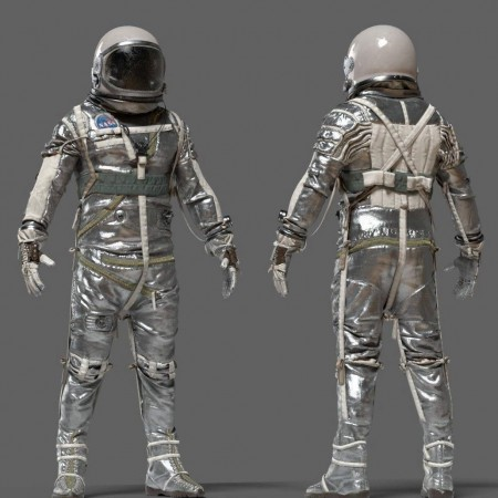 SPACESUIT NASA Mercury Navy Mark IV 3D model