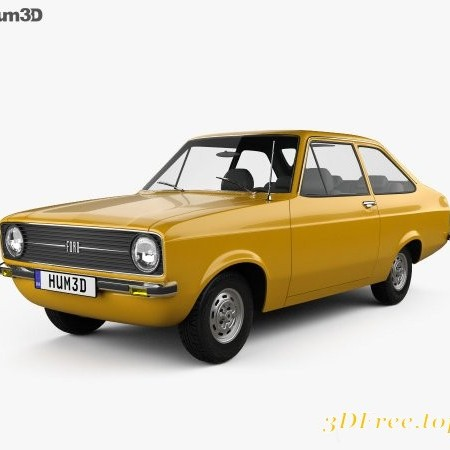 Ford Escort (EU) 1975 3D model