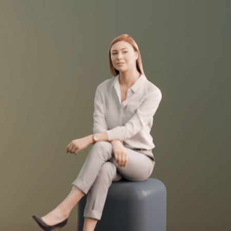 Woman Sitting Scanned 3d model