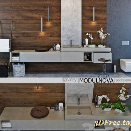 Set of bathroom furniture MODULNOVA