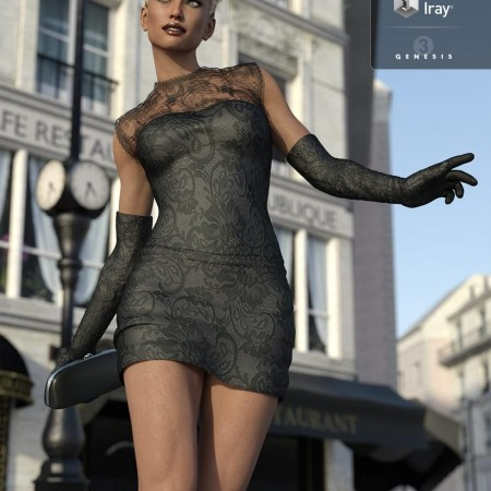 Femme Fatale Cocktail Dress for Genesis 3 Female(s)