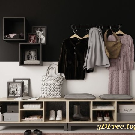 Set clothes I Hallway 3D model