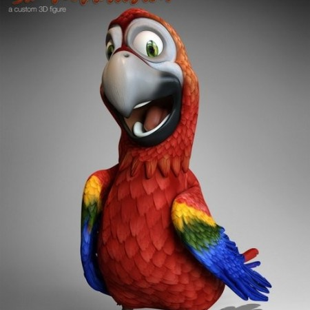 Daz3D - Cartoon Parrot for Daz Studio