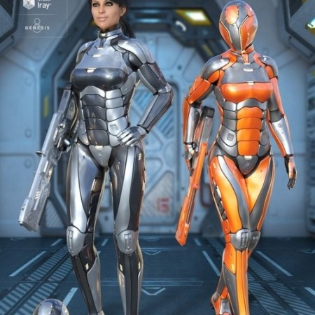 Daz3D - Leviathan Suit for Genesis 8 Female(s)