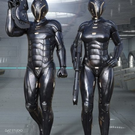 Daz3D - Leviathan Suit Expansion Pack for Genesis 8