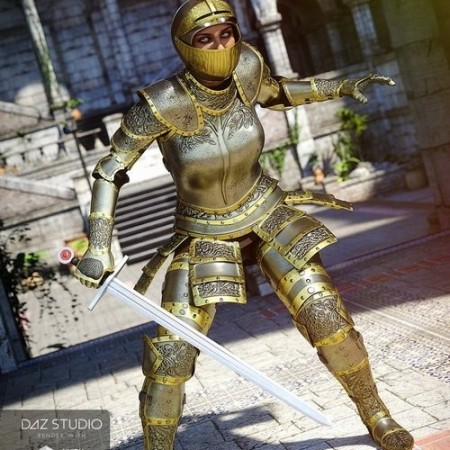 Daz3D - Knight Armor for Genesis 3 Female(s)